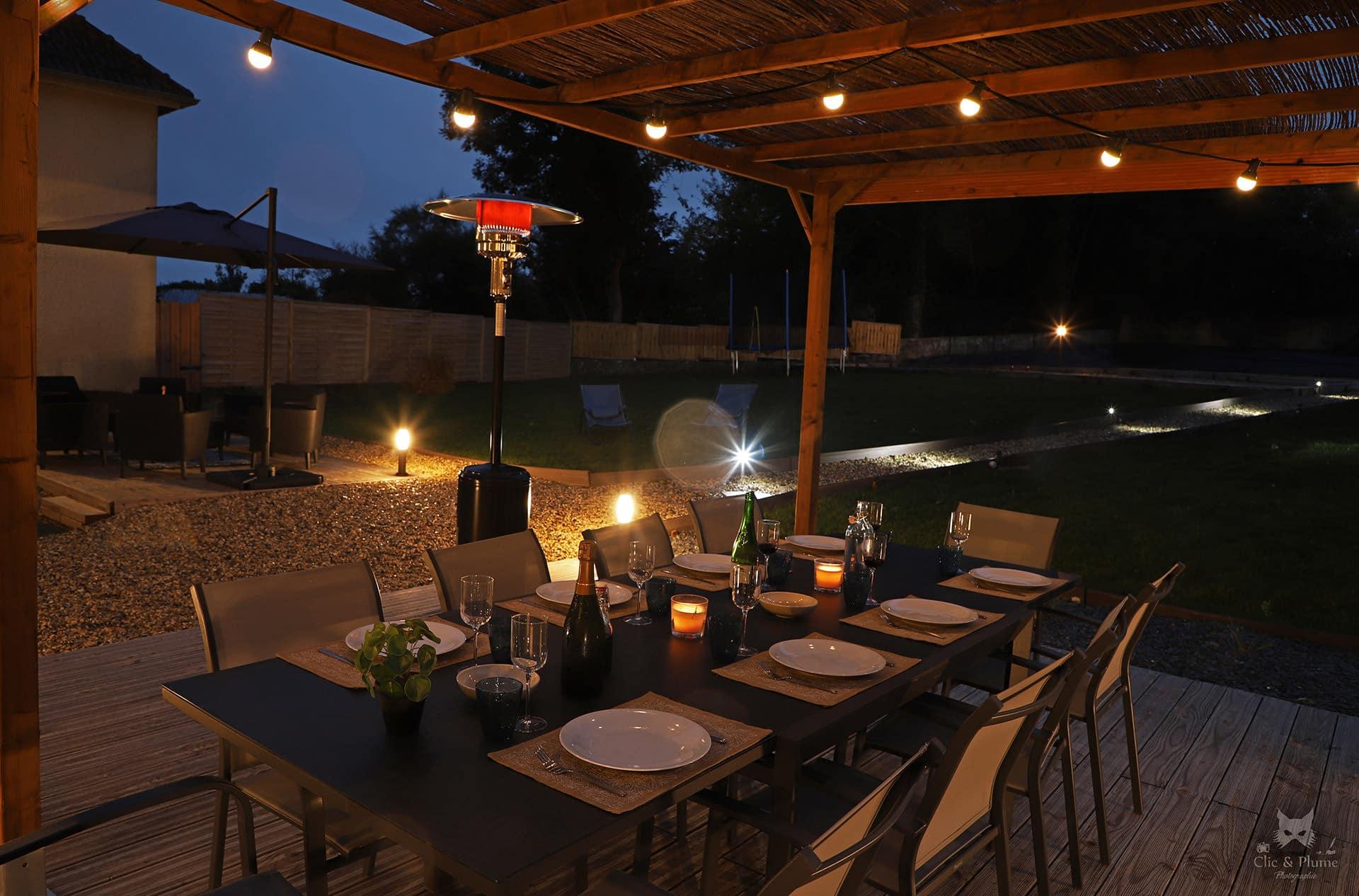 table repas extérieur